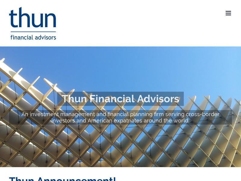 Thun Financial | Welcome