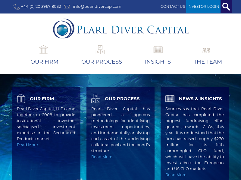 Pearl Diver Capital - Boutique asset management specialising in European Securitised Products