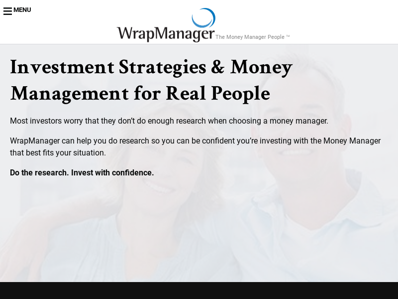 Money Manager Research | Goals-Based Financial Planning | WrapManager