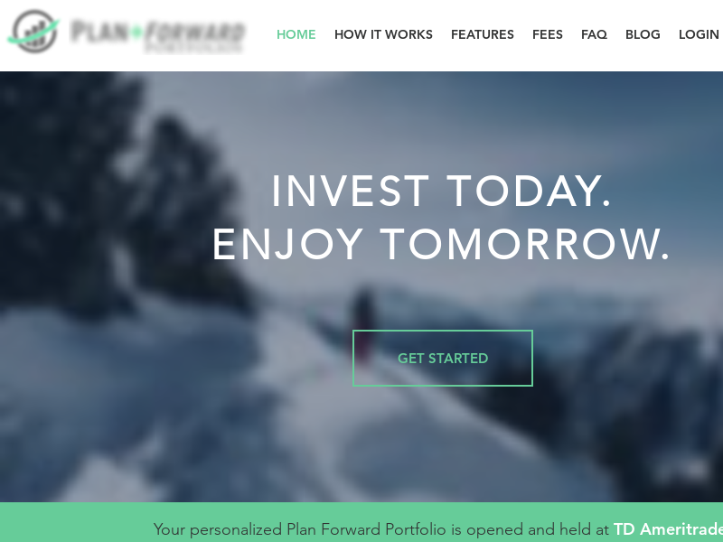 Plan Forward Portfolios Automated Online Investing - Home