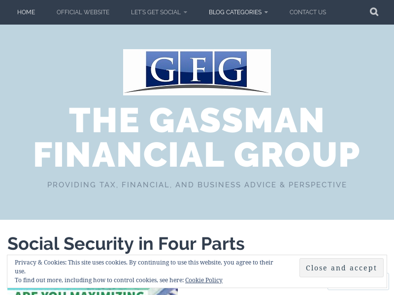 The Gassman Financial Group – Providing tax, financial, and business advice & perspective