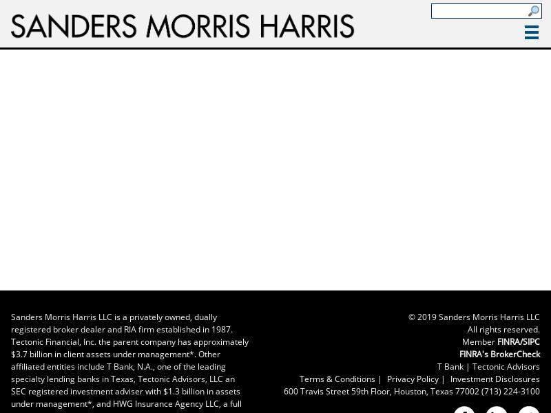 Sanders Morris Harris LLC - Financial Services Firm