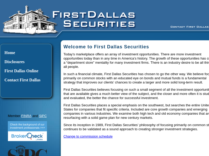 - First Dallas Securities