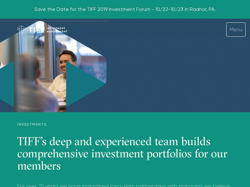 Comprehensive Non-Profit Investment Management - TIFF