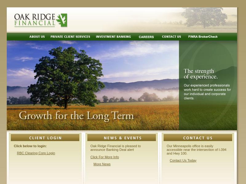 Oak Ridge Financial: Homepage