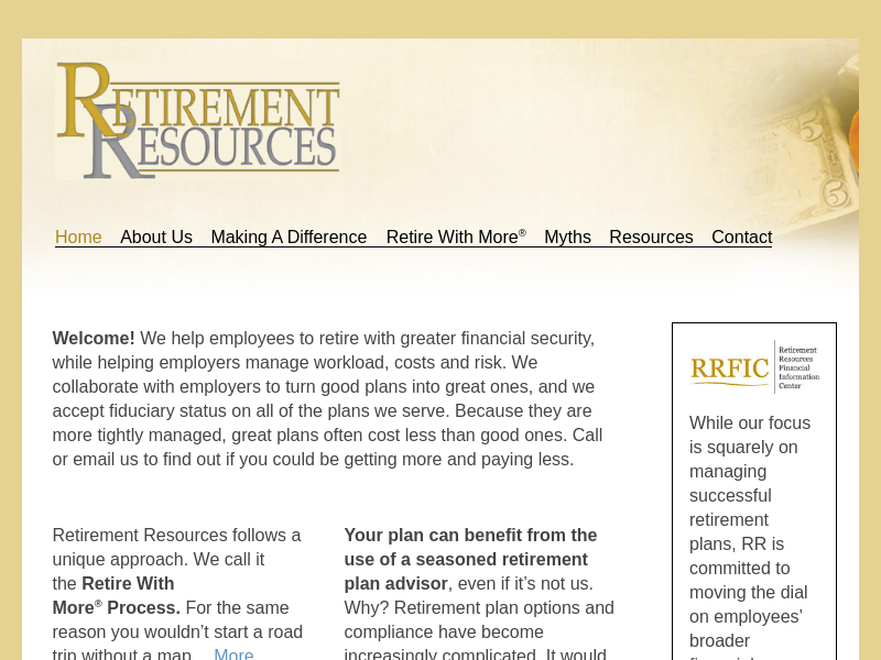 Home | Retirement Resources