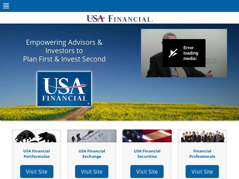 USA Financial® — Empowering Advisors & Investors to Plan First & Invest Second