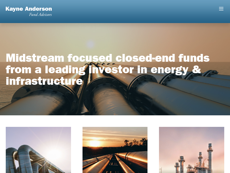 Kayne Funds   Kayne Anderson Fund Advisors   Closed End Energy Funds