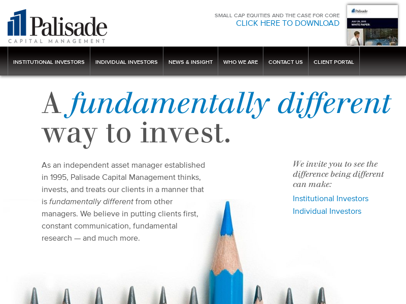 Palisade Capital   Fundamentally Different