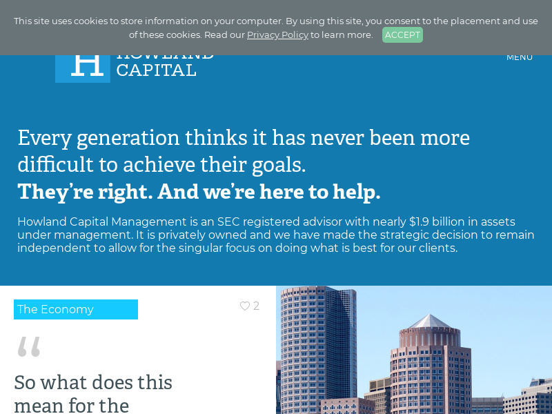 Howland Capital Management - Private Investment Advisors in Boston, MA