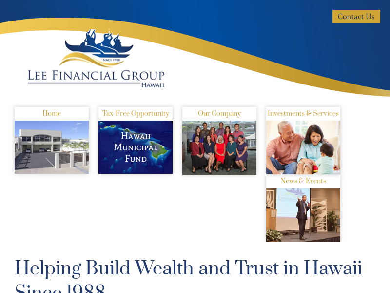 Lee Financial - Helping Build Wealth and Trust in Hawaii