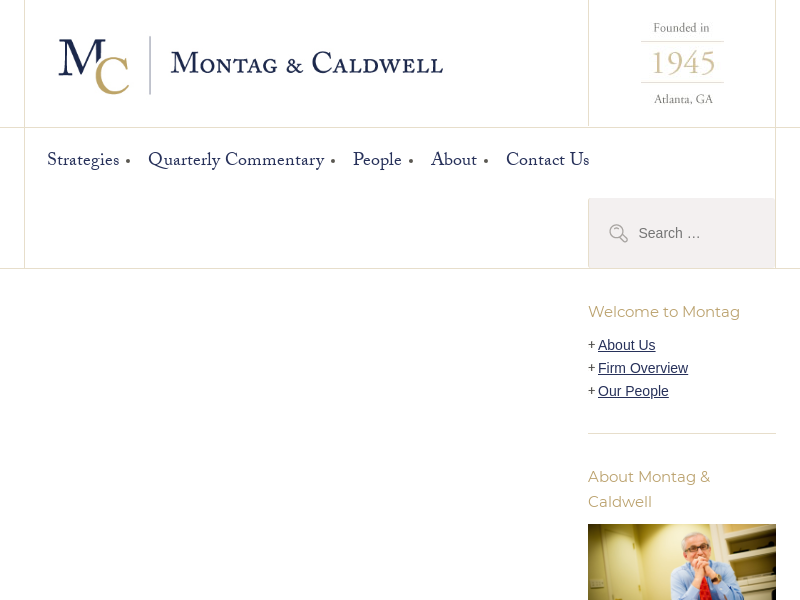 Home | Investment Services | Montag & Caldwell