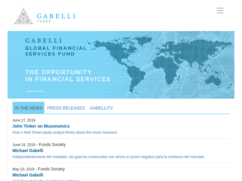 GAMCO Investors, Inc. | Gabelli Funds - Welcome