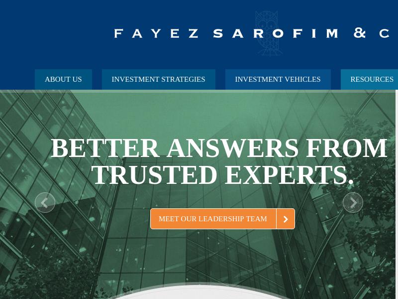 Investment Managers   Fayez Sarofim & Co.