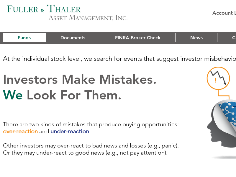 Fuller & Thaler Asset Management | Mutual Funds