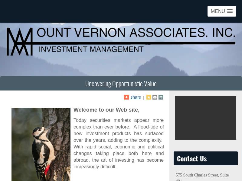 Mount Vernon Associates, Inc.