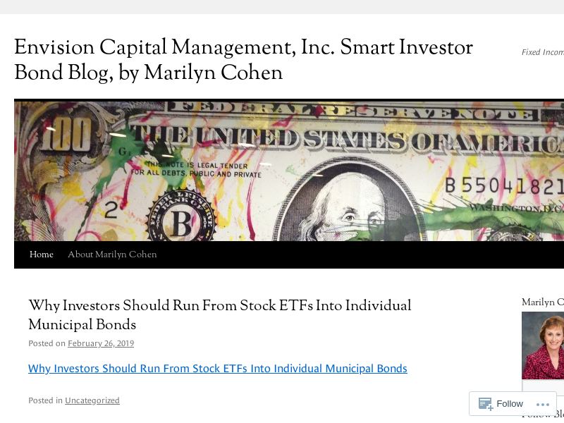 Envision Capital Management, Inc. Smart Investor Bond Blog, by Marilyn Cohen | Fixed Income Investing