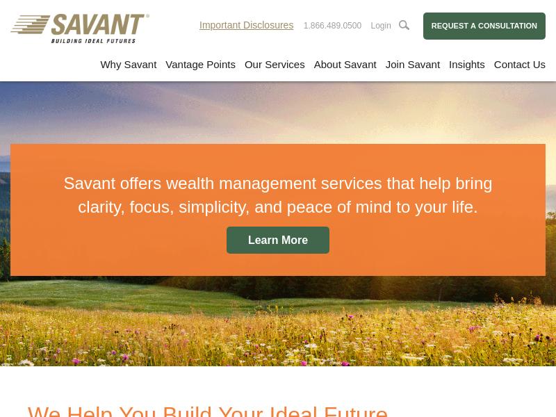 Wealth Management by Fiduciary Advisors | Savant Capital