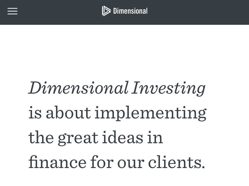 Dimensional Fund Advisors | Dimensional Investing