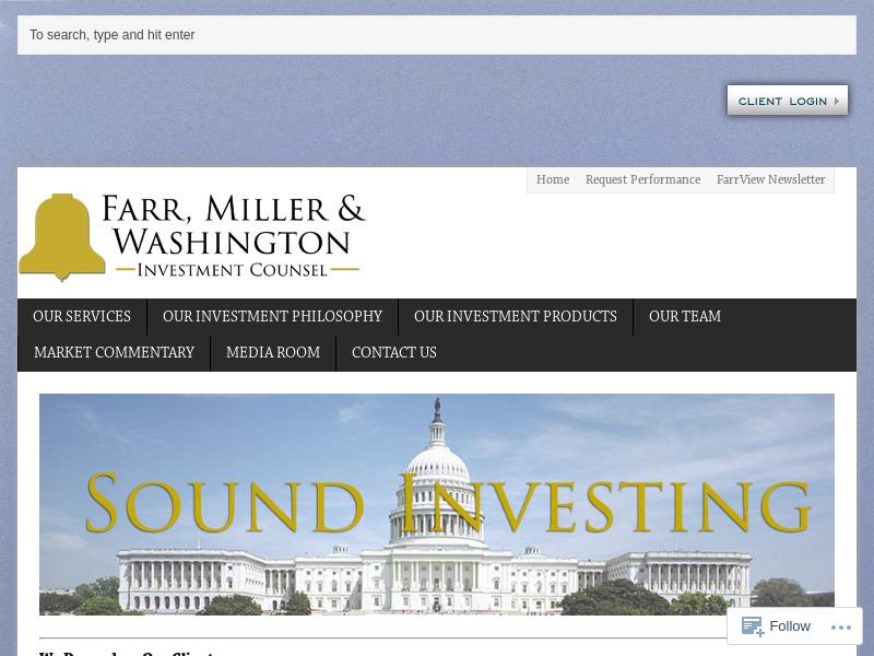 Farr, Miller & Washington – Sound Investing
