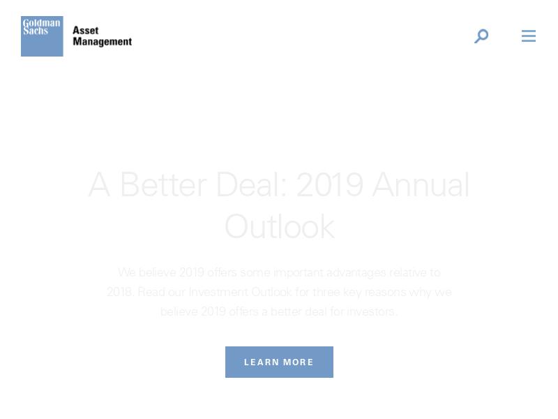 Goldman Sachs Asset Management - Homepage