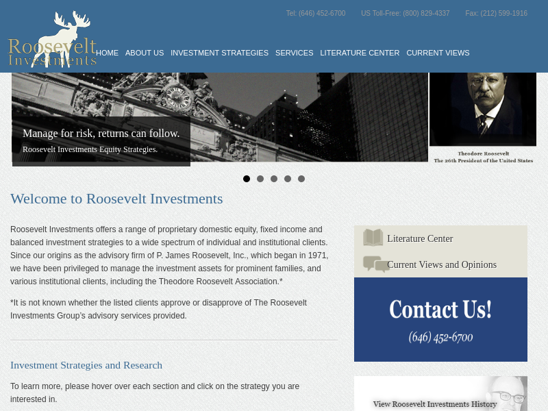 Home : Roosevelt Investments