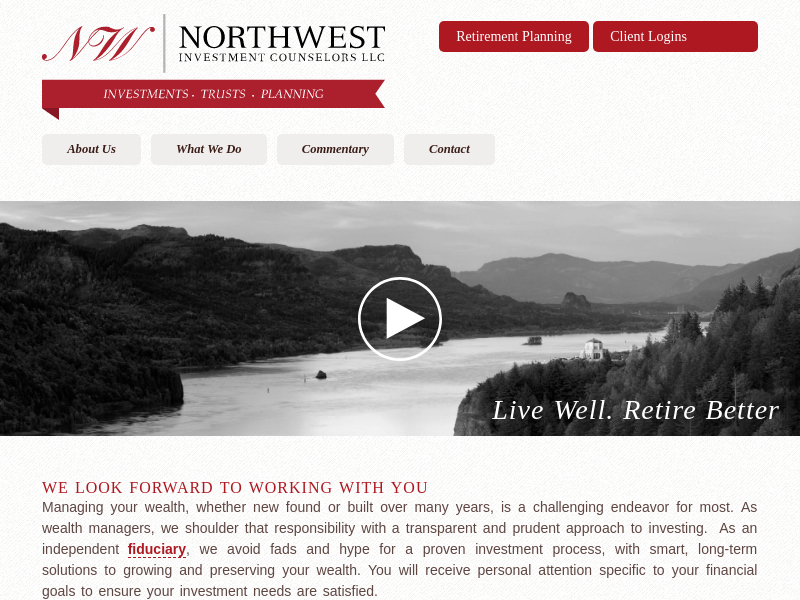 Northwest Investment Counselors | Live Well. Retire Better.
