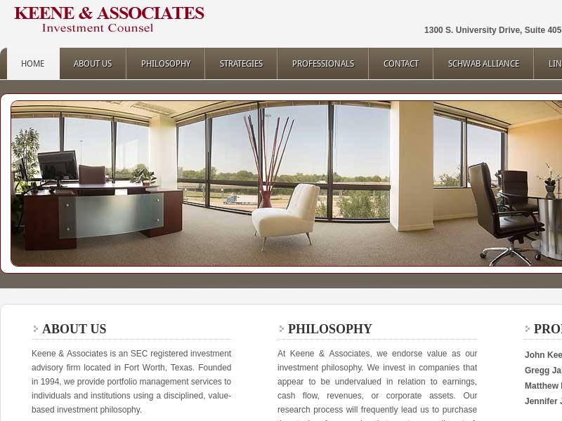 Keene and Associates - SEC Registered Investment Advisory —