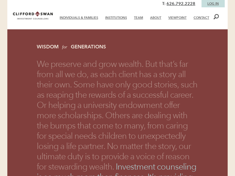 Preserve & Grow Wealth | Clifford Swan Investment Counselors
