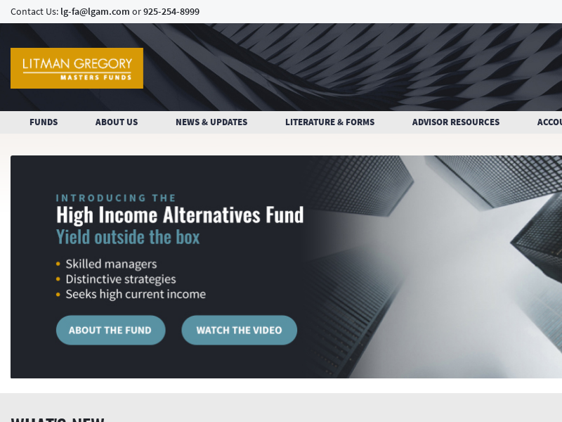 Litman Gregory Masters Funds   Multi-Managed Mutual Funds