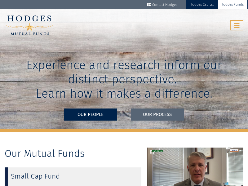Home Page | Hodges Funds
