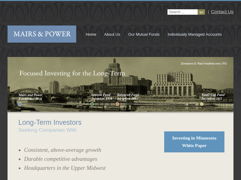 Home - Mairs and Power, Inc.