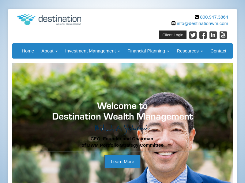 Destination Wealth Management | High Net Worth Financial Advisor & Investment Management Company | Private Asset Planning Firm
