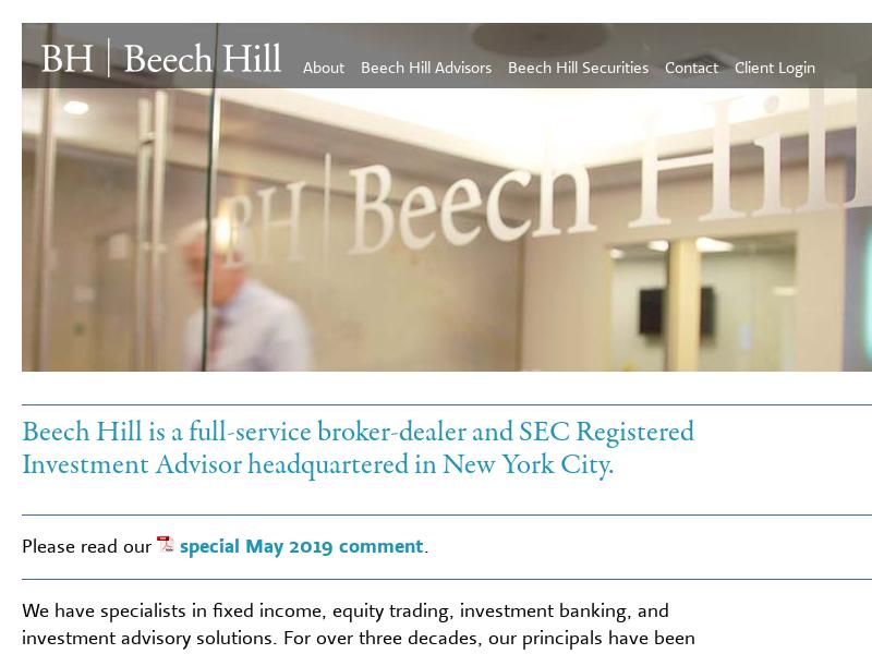 Beech Hill Advisors & Beech Hill Securities