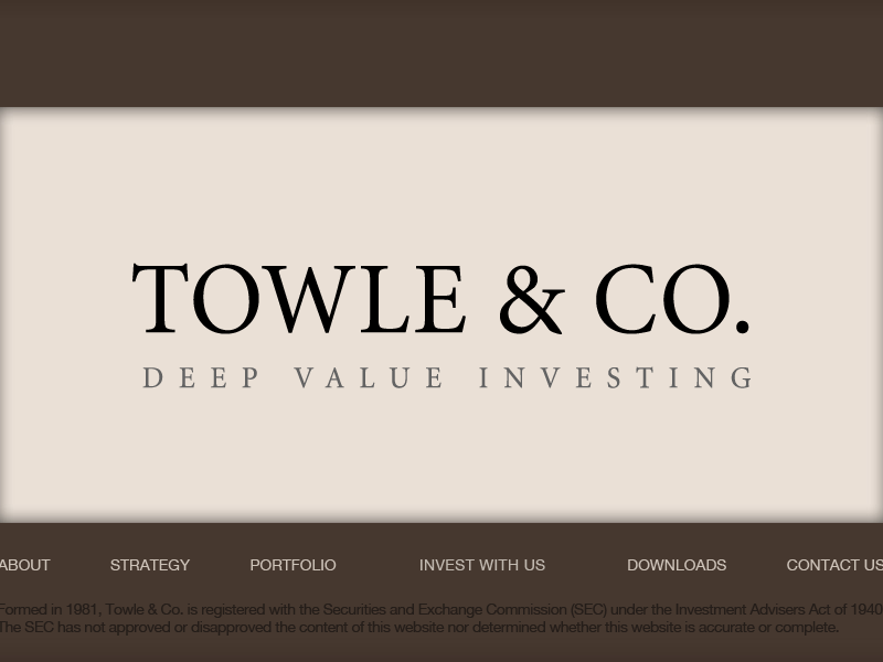 Towle Co. deep value investing and capital appreciation