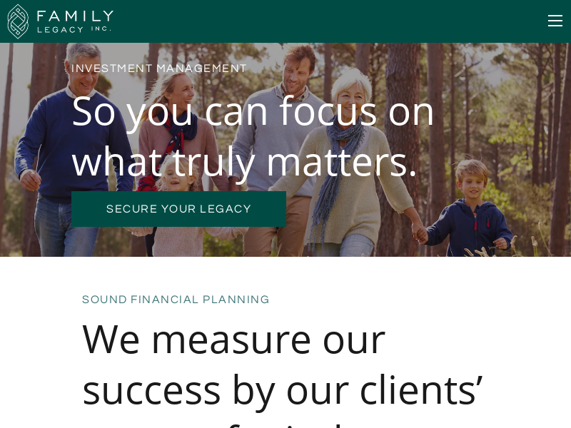Financial Planning | Greenville SC | Family Legacy