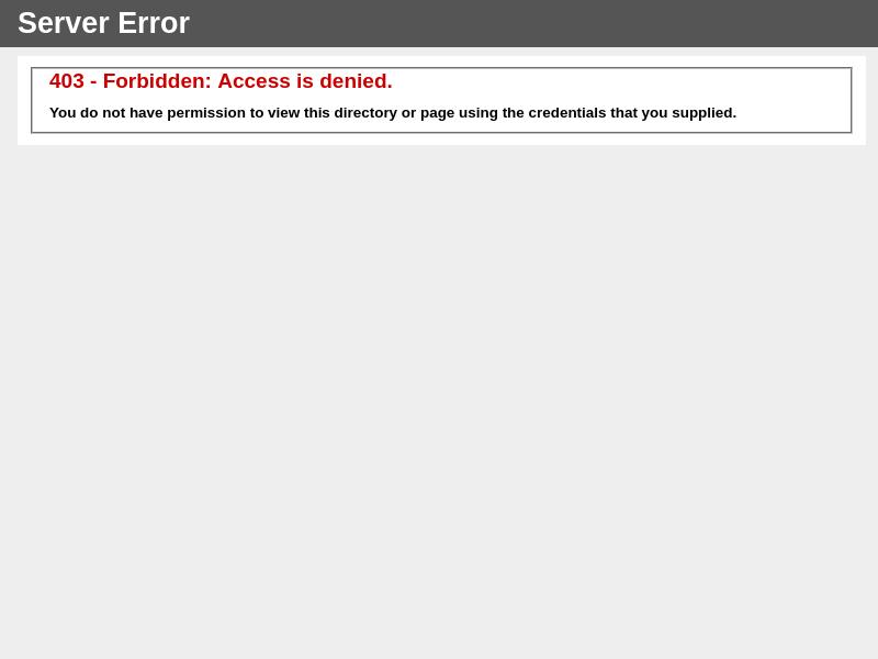 403 - Forbidden: Access is denied.