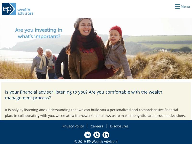 Wealth Management - Fee Only Financial Advisors | EP Wealth Advisors