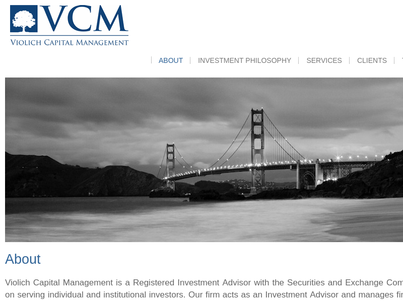 Violich Capital | Asset Management San Francisco — Investment Advisors