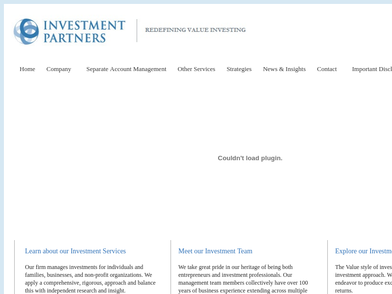 Investment Partners -  Redefining Value
