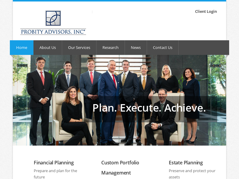 Home | Probity Advisors, Inc. - A Member of Wealth Services Alliance