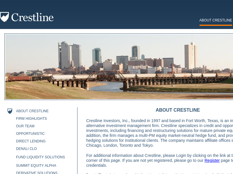 About Crestline -   Crestline Investors, Inc.