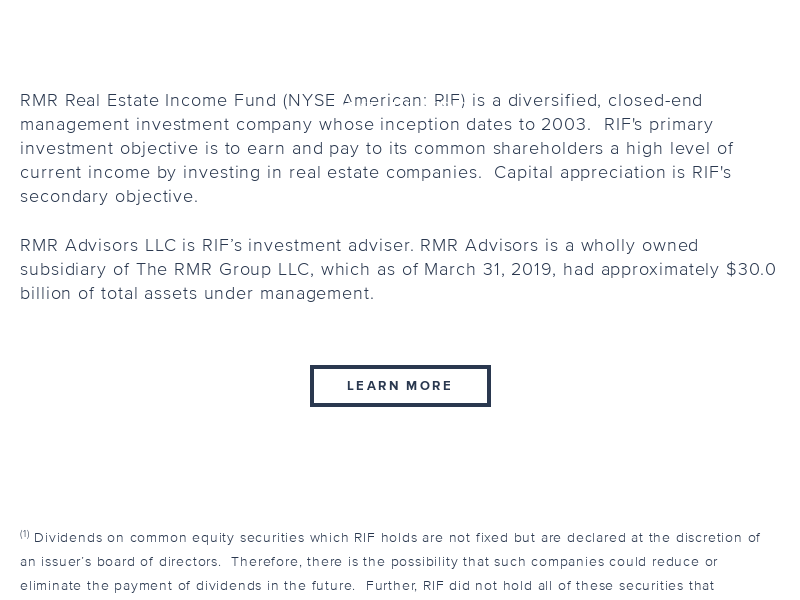 RMR Real Estate Income Fund - Home
