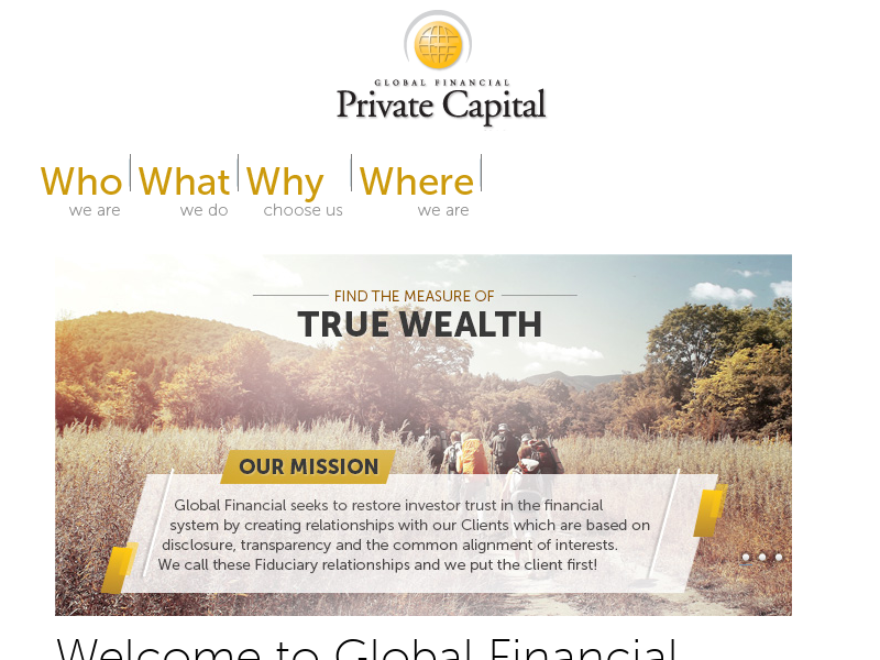 Global Financial Private Capital. Comprehensive Wealth Management.