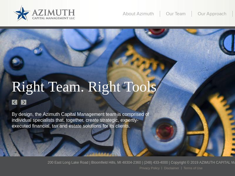 Azimuth Capital Management LLC Azimuth Capital Management LLC