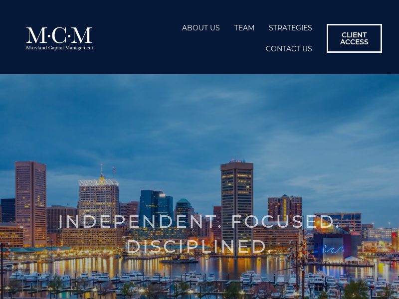 Home - Maryland Capital Management