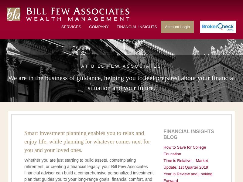Bill Few   Financial Advisor   Financial Planning