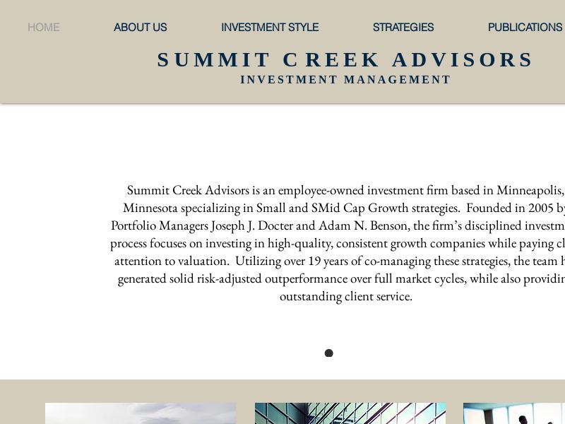 Summit Creek Advisors | Investment Management | Minneapolis, MN