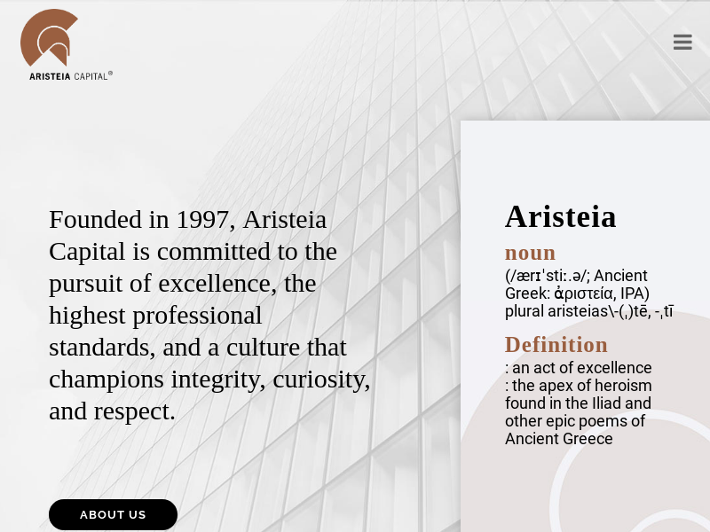 Aristeia Capital   A global, independent alternative investment management company