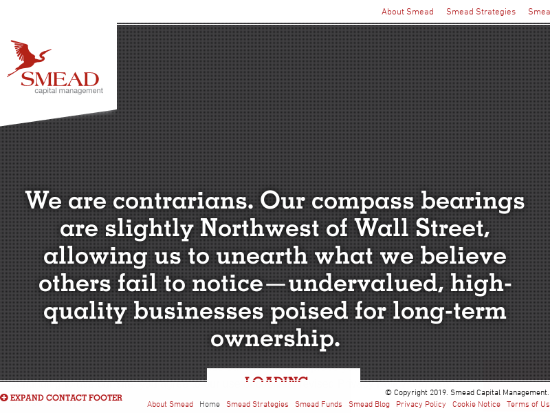 Smead Capital Management :: Only The Lonely Can Play
